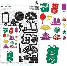 DOCRAFTS XCUT A5 DÉCOUPE SET NOUVEL AN CHINOIS - NEUF FIXATION UNIVERSELLE