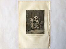 GRAVURE BOURGEOIS GENTILHOMME 1854 MOLIERE TRES BON ETAT