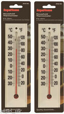 2x SupaHome White Plastic Large Numbers Household Thermometers - FREE P&P