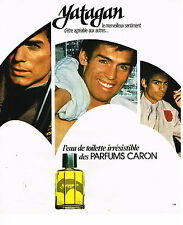PUBLICITE ADVERTISING 015  1977  YATAGAN  eau de toilette homme de CARON