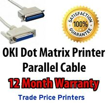 NEW Parallel Printer Cable Lead for OKI Dot Matrix 320 321 3320 3320 520 521 etc