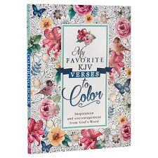"""""""My Favorite KJV Verses to Color by Christian Art Publishers Paperback BRAND NEW"""