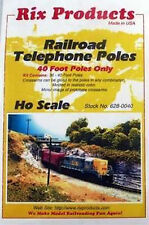 Rix Products- RAILROAD TELEPHONE POLES - 40' POLES ONLY - HO Scale  628-0040