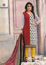 Office wear printed cotton salwar kameez suit churidar unstitched dress material