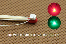 DT3528RG 20pcs Pre-soldered litz wired leads Bi-color RED/GREEN SMD Led 3528 NEW
