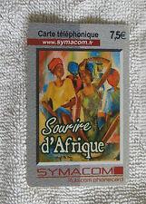 Carte téléphonique symacom sourire d 'Afrique avec motif d'Afrique-pas telekom