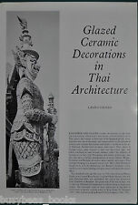1982 magazine article about CERAMIC DECORATION THAI ARCHITECTURE, Thailand