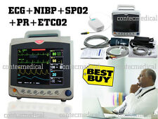 New Portable Patient Monitor Vital Signs ICU CO2 monitor ECG NIBP SPO2 PR ETCO2