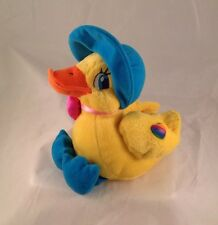 Vintage Lisa Frank Bonnie The Duck Plush Animal Chick Bonnet Yellow 8""