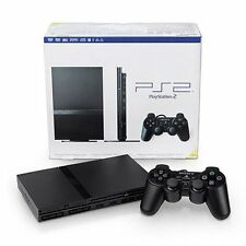 PlayStation 2 Console Slim PS2 Black Very Good 3Q