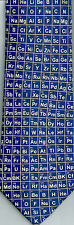 Periodic Table Chemistry Science Metal Gas Liquid Elements sleeved Blue Silk Tie