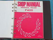 Honda Rototiller Tiller F400 Repair Shop Service Maintenance Manual 1976