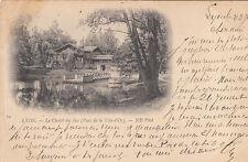 LYON 14 le chalet des îles parc de la tête d'or timbre noir 1899