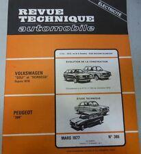 NEUF DE STOCK Revue technique PEUGEOT 304 RTA 365 1977 GOLF SCIROCCO VOLKSWAGEN