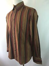 Dolce & Gabbana D&G Men's 36 (50) M Striped French Cuff Long Sleeve Shirt