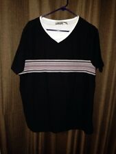 Fashion Bug 14/16 Women's Black Knit Top With Stripes Across Chest.