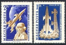 Hungary 1961 Space Flight/Yuri Gagarin/People/Rockets/Science 2v set (n34948)