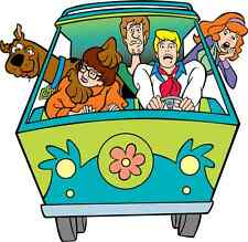 "Scooby-Doo MiniVan Cartoon Car Bumper Sticker Decal 5"" x 5"""