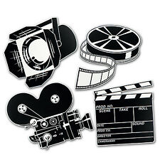 Hollywood MOVIE SET Diecut CUTOUTS Party DecorationS AWARD MOVIE NIGHT