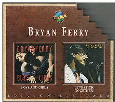 Bryan Ferry ‎– Boys And Girls / Let's Stick Together Edicion Limitada 2 CDs
