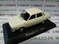 voiture 1/43 RBA Italie IXO : RENAULT 12 1970 blanche
