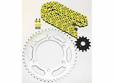 1990-1996, 2001-2003 SUZUKI RM250 YELLOW NON O RING CHAIN & SPROCKET 13/49 114L