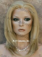 French Lace Front Wig HEAT SAFE Golden Blonde  mix APA7 Butterscotch