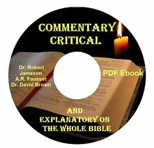 Commentary Critical & Explanatory-Whole Bible CD Ebook-Kindle-iPhone Compatible