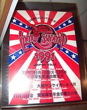 RARE VINTAGE 1991 LYNYRD SKYNYRD JAPAN POSTER SIGNED BY RANDY TUTEN FRAMED