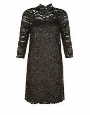 New Monsoon Black Lace Occasion Shift Dress - Sz 18 - Wedding/Cruise/Cocktail