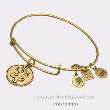 Authentic Alex and Ani Piece of the Puzzle Rafaelian Gold Charm Bangle CBD