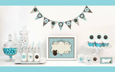 Blue Boy Baby Shower Party Decorations Starter Kit