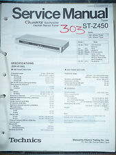 Service Manual Technics ST-Z450 Tuner,ORIGINAL