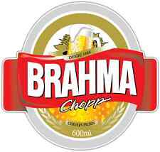 "Brahma Chopp Brazil Beer Car Bumper Window Locker Sticker Decal 4""X5"""