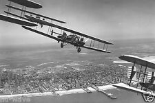 U.S. Army Air Corps Curtiss B-2 Condor bombers flying over Atlantic City 1929