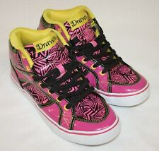Ladies Draven Black Pink Prism Star Fashion High Top Sneakers Shoes Size 8