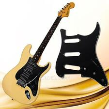 Stratocaster guitar 3-Ply PVC Pickguard Scratch Plate For ST Strat SSS-Black