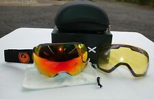 2015 NIB DRAGON APX JET SNOW GOGGLES RED IONIZED LENS BONUS LENS $200