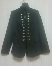 TRICOTTO JANE & JOHN Ladies Black Gothic Steampunk Military Coat Jacket Small