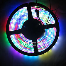 5M Waterproof WS2811 IC 5050RGB Dream Color 30LED/M DC12V Pixel Strip White PCB