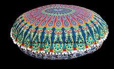 """Mandala Bodenkissen 32 """"Runde Deckt Ottomane Puffs Indian Meditationskissen Boho"""