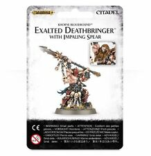 Age of Sigmar:Khorne Bloodbound: Exalted Deatbringer with Impaling Spear NEW