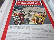 Formel 1 Archiv 6 Hintergründe 5070 Schlagzeilen und Hintergründe EInleitung