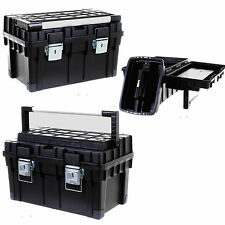 HEAVY DUTY TOOLBOX STRONG DURABLE HANDLE CARRY TRAY DIY STORAGE TOOL BOX
