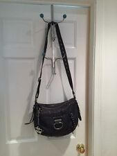 Ladies original Juicy Couture Handbag from bloomngdale Leather Gray And Silver.