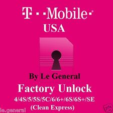 T-Mobile Unlock for USA iPhone 4 4S 5 5S 5C 6 6+ 6S 6S+ SE Only Clean