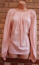 H&M PINK NUDE BAGGY LONG SLEEVE OVERSIZE CAMI TUNIC BLOUSE TOP SHIRT 6 XS 8