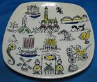 Norway Souvenir Stavangerflint Small Plate Trivet Tray Hand Painted Inger Waage