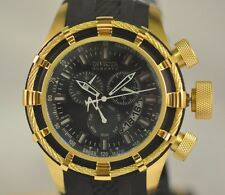 New Mens  Invicta 6940 Reserve Bolt Rubber IP Black Chronograph Swiss Watch