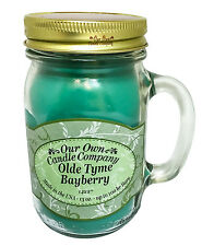 Olde Tyme Bayberry Scented Candle in 13 oz Mason Jar by Our Own Candle Company
